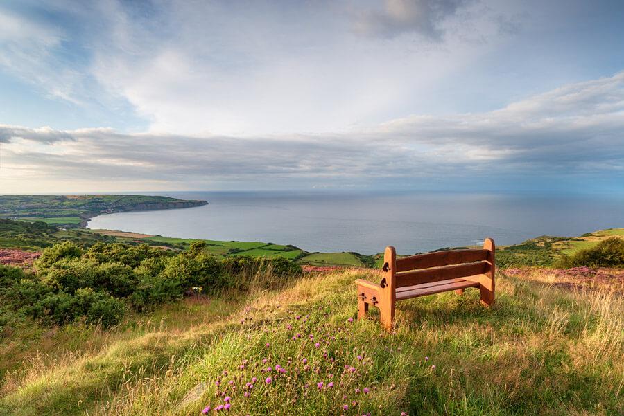 bench overlooking sea