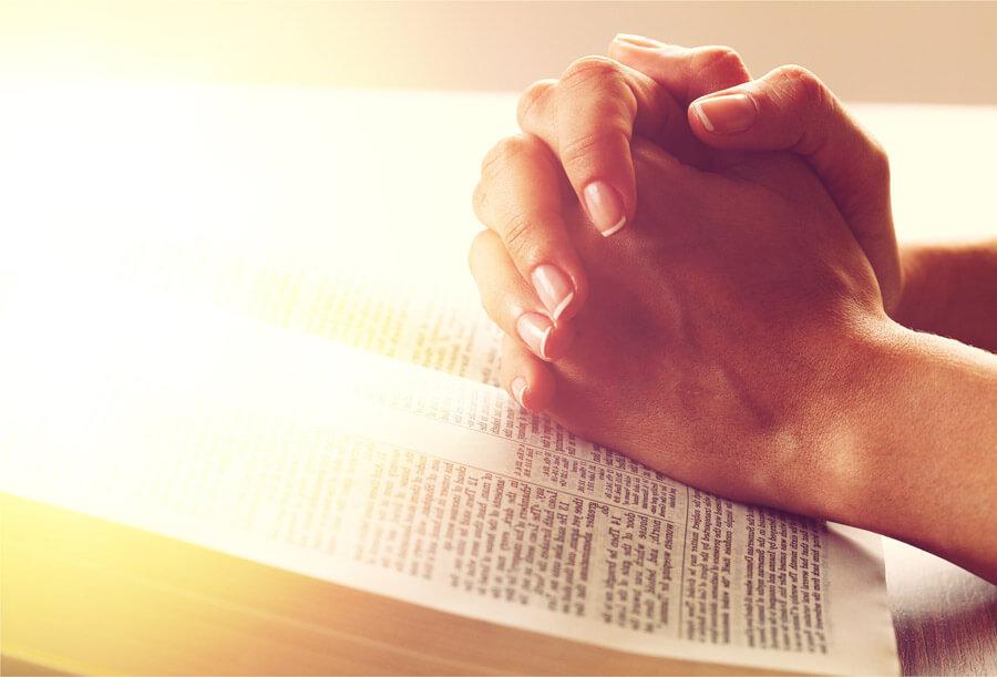 person in prayer