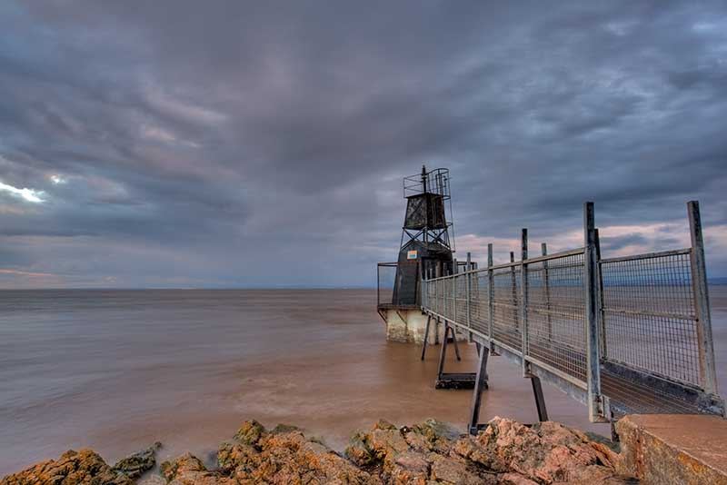 Battery Point at Portishead in North Somerset, England